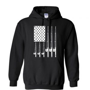 American Fishing Rods Flag Unisex Hoodie