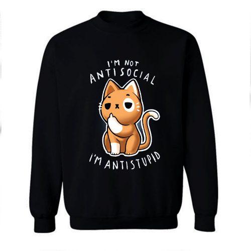 Anti Social Club Cat Sweatshirt