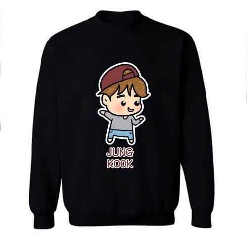 BTS Jungkook Chibi Cartoon Sweatshirt