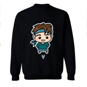 BTS V Chibi Cartoon Sweatshirt