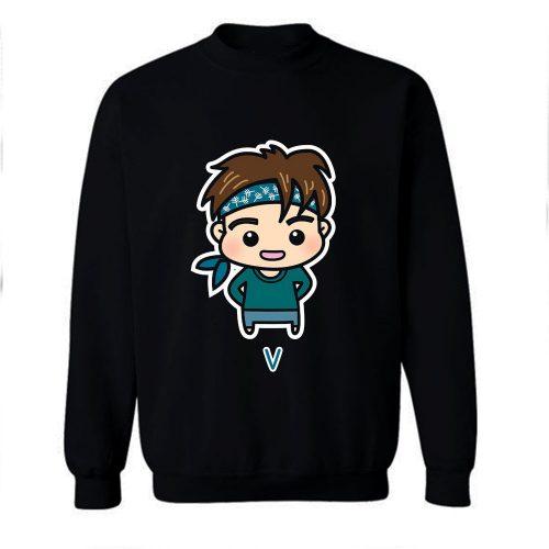 BTS V Chibi Cartoon Sweatshirt