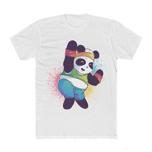 Colorful Disco Panda T Shirt