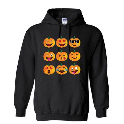 Halloween Pumpkin Emoji Unisex Hoodie