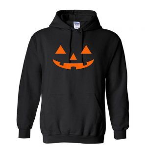 Halloween Scary Pumpkin Orange Face Unisex Hoodie