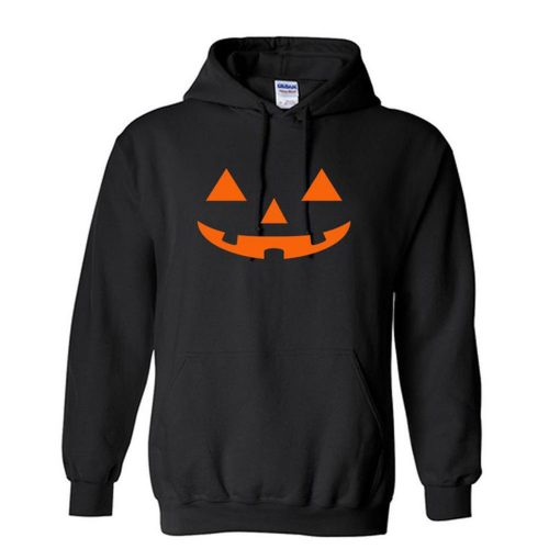 Halloween Scary Pumpkin Orange Face Unisex Hoodie