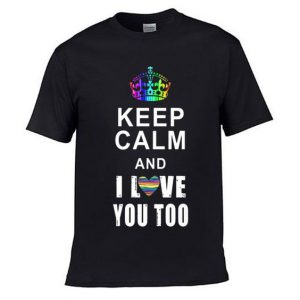 Keep Calm Valentine LGBT T Shirt 1