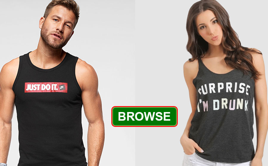 Tank Tops Mens Womens