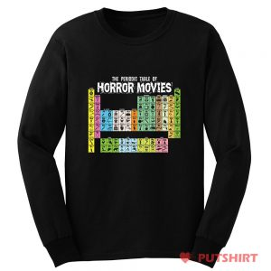 Horror Movie Periodic Table Long Sleeve