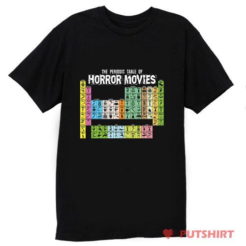 Horror Movie Periodic Table T Shirt