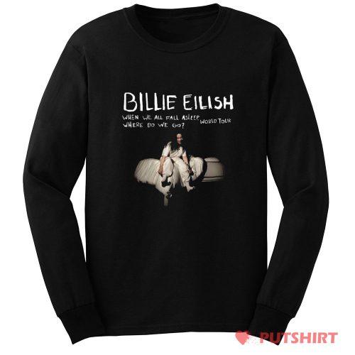 Billie Eilish T Shirt Where Do We Go World Tour Long Sleeve