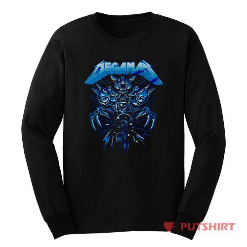 Megaman Rock Vidio Game Long Sleeve