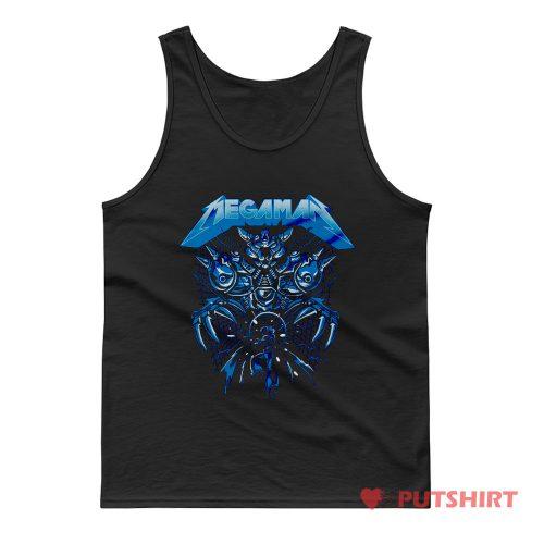 Megaman Rock Vidio Game Tank Top