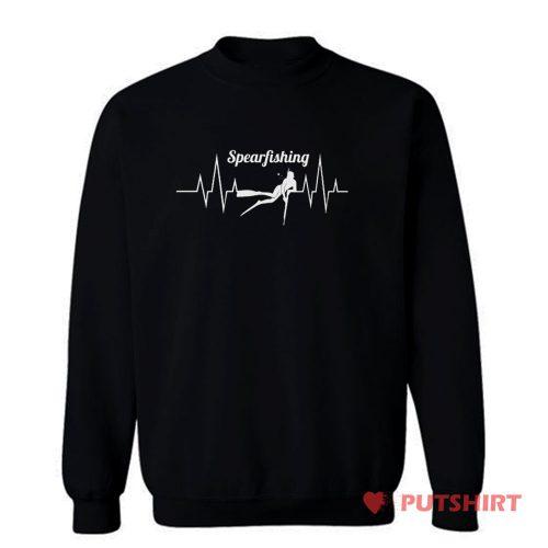 Spearfishing Heartbeat Anglers Sweatshirt
