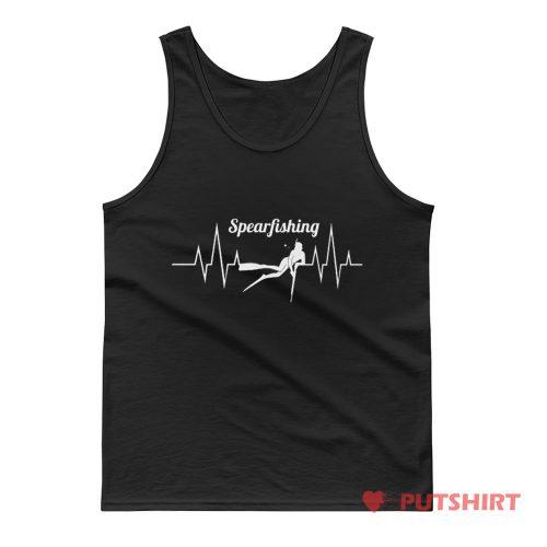 Spearfishing Heartbeat Anglers Tank Top
