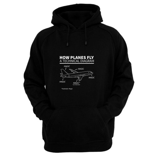 Aviation How Planes Fly Magic Hoodie