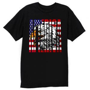 Eagle Mullet American Flag T Shirt