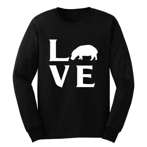 Extinction Animals Hippopotamus Love Long Sleeve