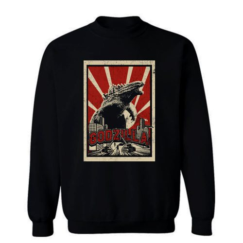 Godzilla Retro Vintage Sweatshirt