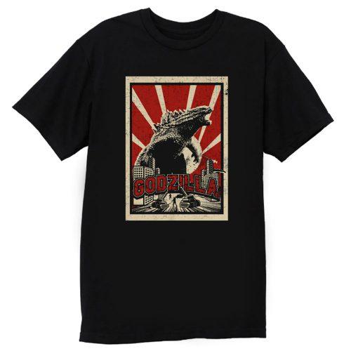 Godzilla Retro Vintage T Shirt