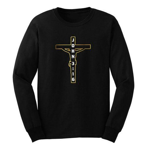John 3 16 Jesus on the Cross Long Sleeve
