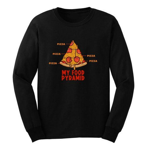 Pizza My Food Pyramid Long Sleeve