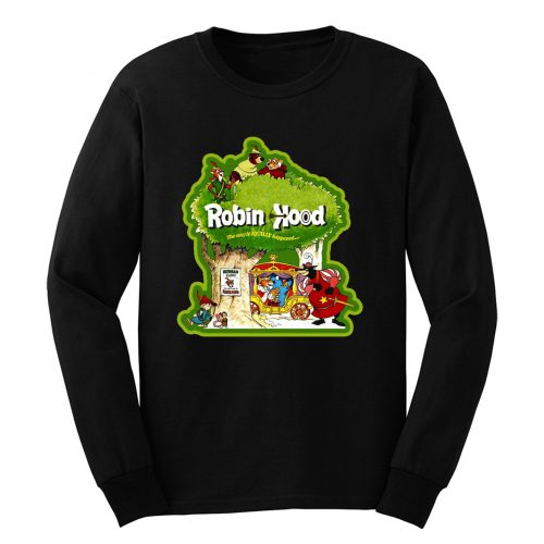 70s Disney Animated Classic Robin Hood Long Sleeve