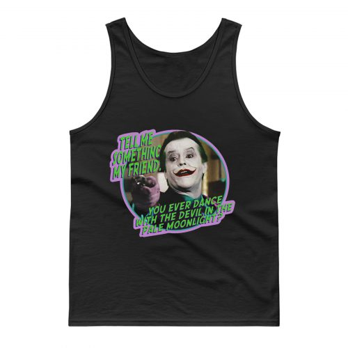80s Classic Batman The Joker Dance With the Devil Tank Top
