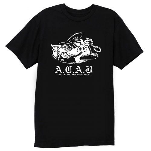ACAB Pig Police Bastards T Shirt