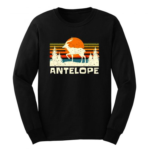 African Antelope Retro Wildlife Lover Long Sleeve