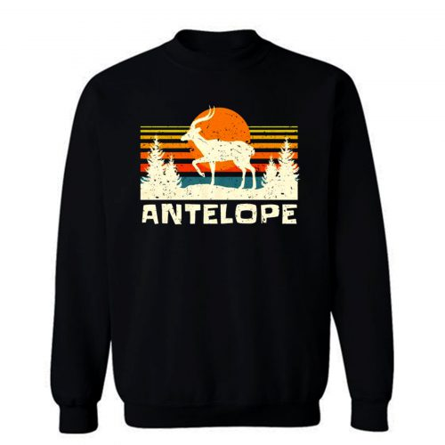 African Antelope Retro Wildlife Lover Sweatshirt