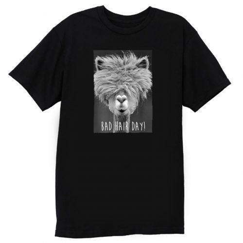 Bad Hair Day Hipster Llama Hipster T Shirt