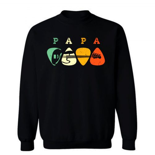 Bass Guitar Pick Shirt Papa Guitarist Sweatshirt