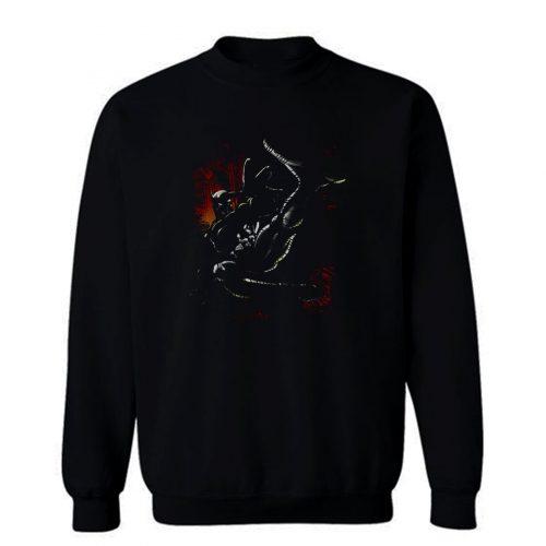 Batman Kick Swing DC Comics Sweatshirt