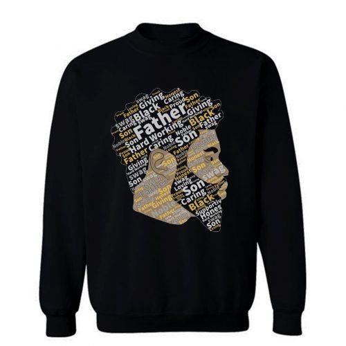 Black Father Black Lives Matter Black Father Mattter Black Dads Sweatshirt