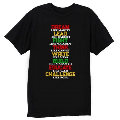 Black History and Historical Leaders Juneteenth T Shirt