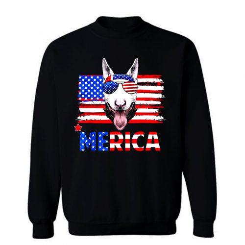 Bull Terrier Merica For 4th July United State Cute Sweatshirt