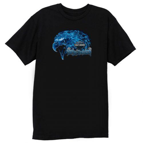 Burning Eagle Harley Davidson T Shirt