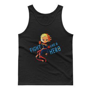 Captain Marvel Fight Like A Hero Tank Top