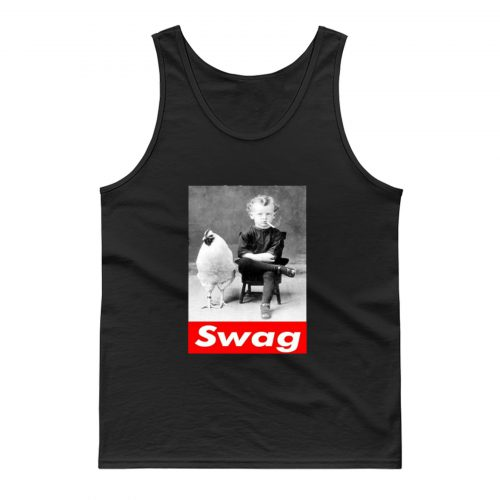 Chicken Funny And Kid Swag Tank Top