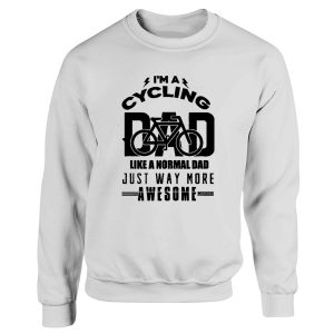 Cycling Dad Funny Vintage Cyclist Fathers Sweatshirt