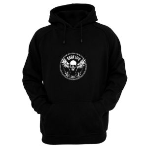 Dark Life Skull Wings Hoodie