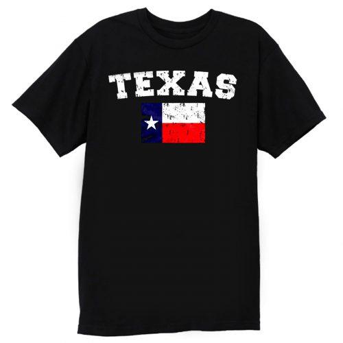 Distressed Texas Flag Texan Pride The Lonestar State T Shirt