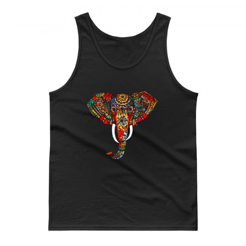 Elephant Ethnic Tank Top