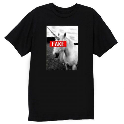 Fake Unicorn Hipster Funny T Shirt