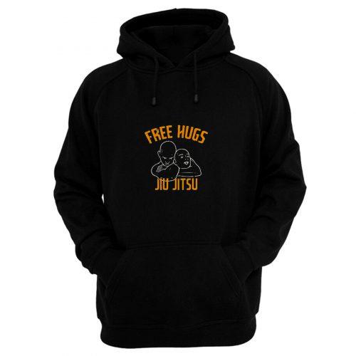 Free Hugs Jiu Jitsu Funny Fighter Martial Arts Vintage Hoodie