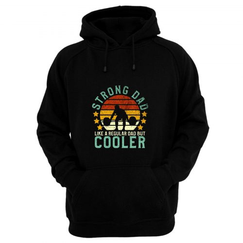 Funny Vintage Strength Training Fathers Hoodie