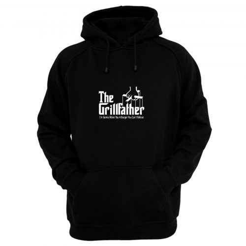 GRILLFATHER Funny Fathers Day BBQ Barbecue Grill Dad Grandpa Hoodie