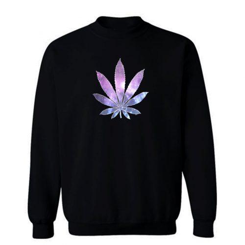 Galaxy Marijuana Leaf Sweatshirt