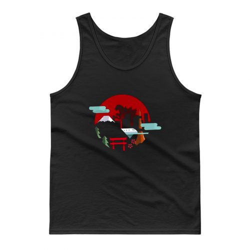 Godzilla The View Of The City Tank Top