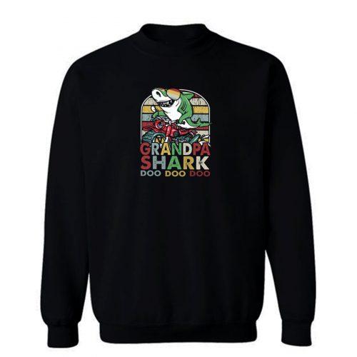 Grandpa Shark Doo Doo Vintage Sweatshirt